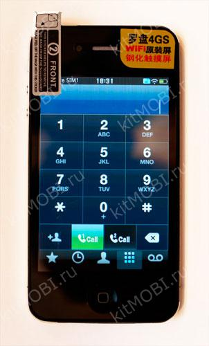 Китайский телефон iPhone 4GS (W888)